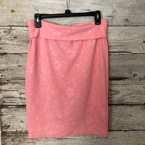 Women's long pink skirt